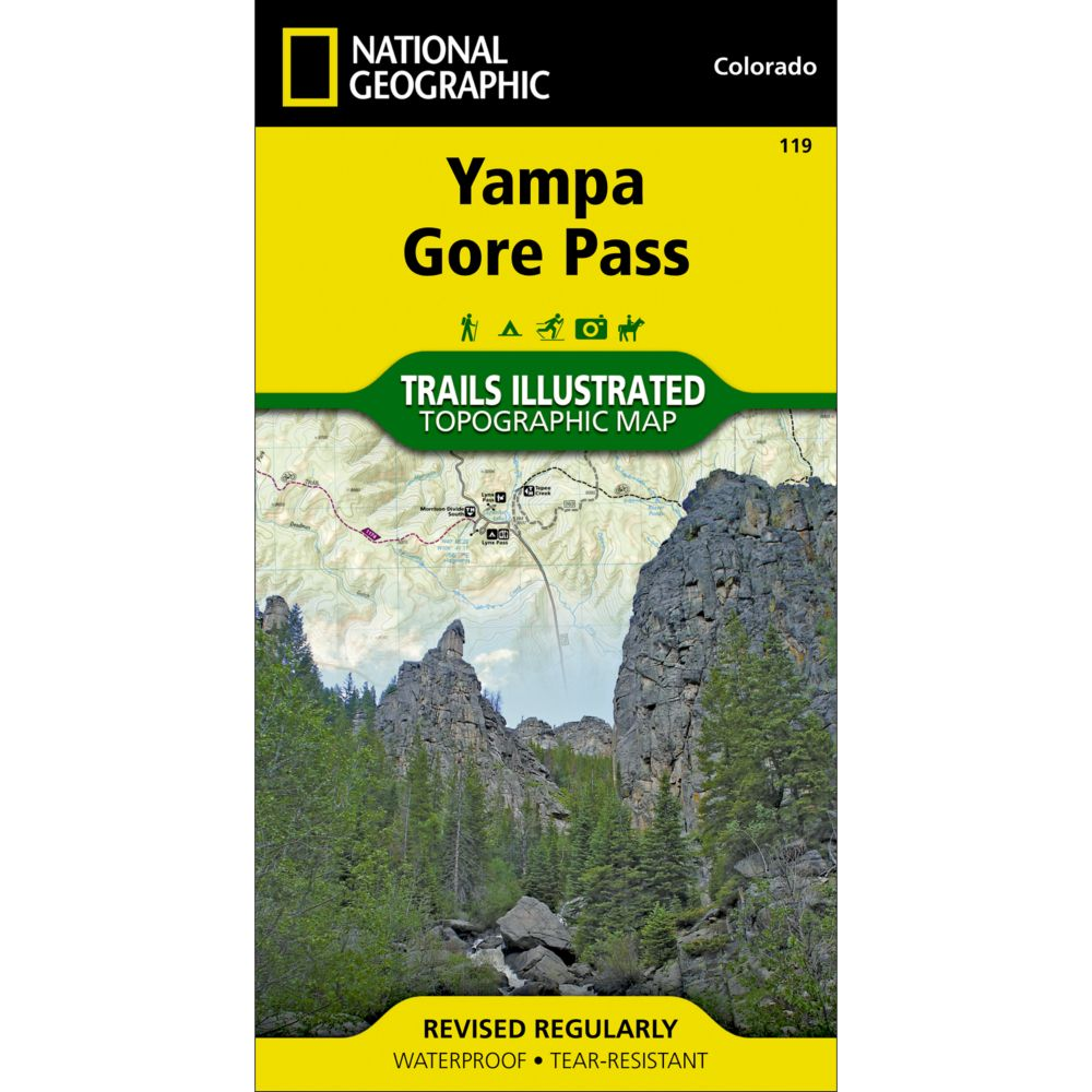 National Geographic Yampa/Gore Pass Trail Map