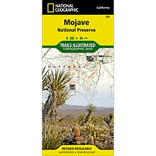 photo: National Geographic Mojave National Preserve Map us pacific states paper map