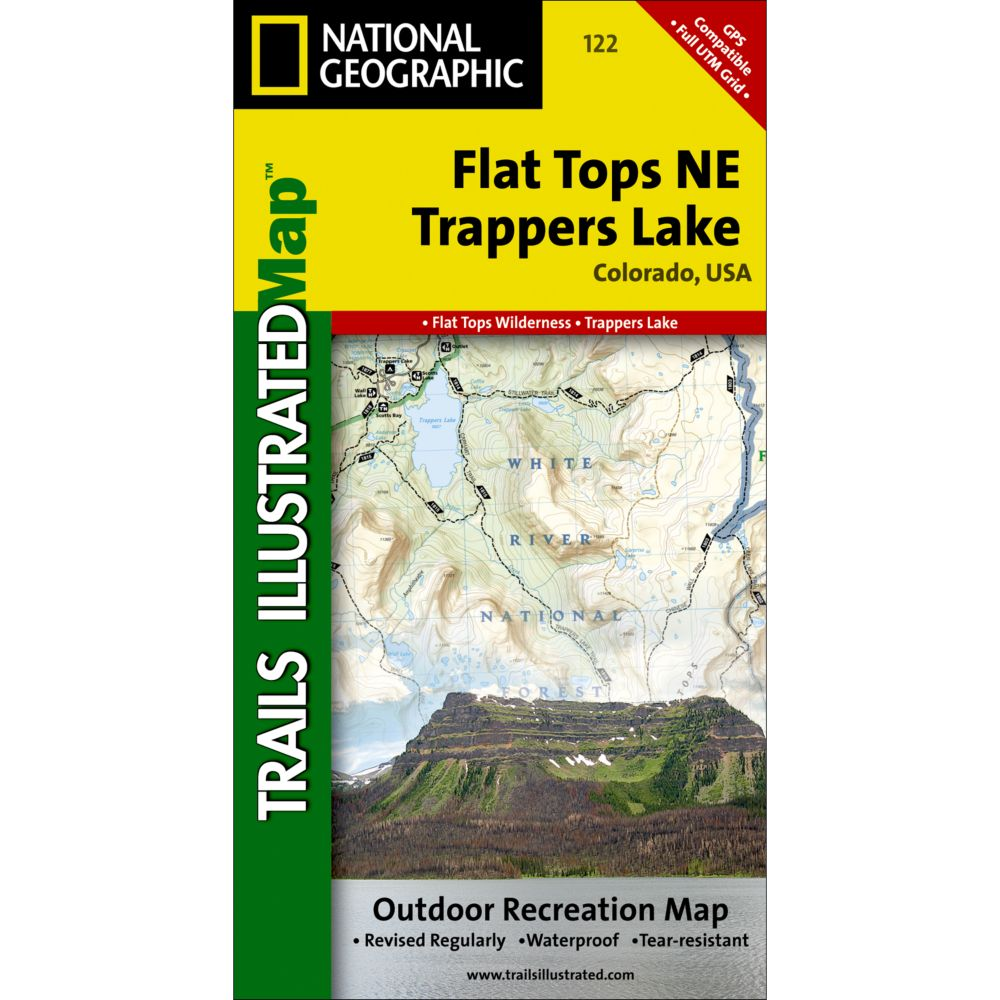 National Geographic Flat Tops NE/Trappers Lake Trail Map
