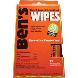 Adventure Medical Kits Ben's 30 Deet Tick & Insect Repellent Wipes