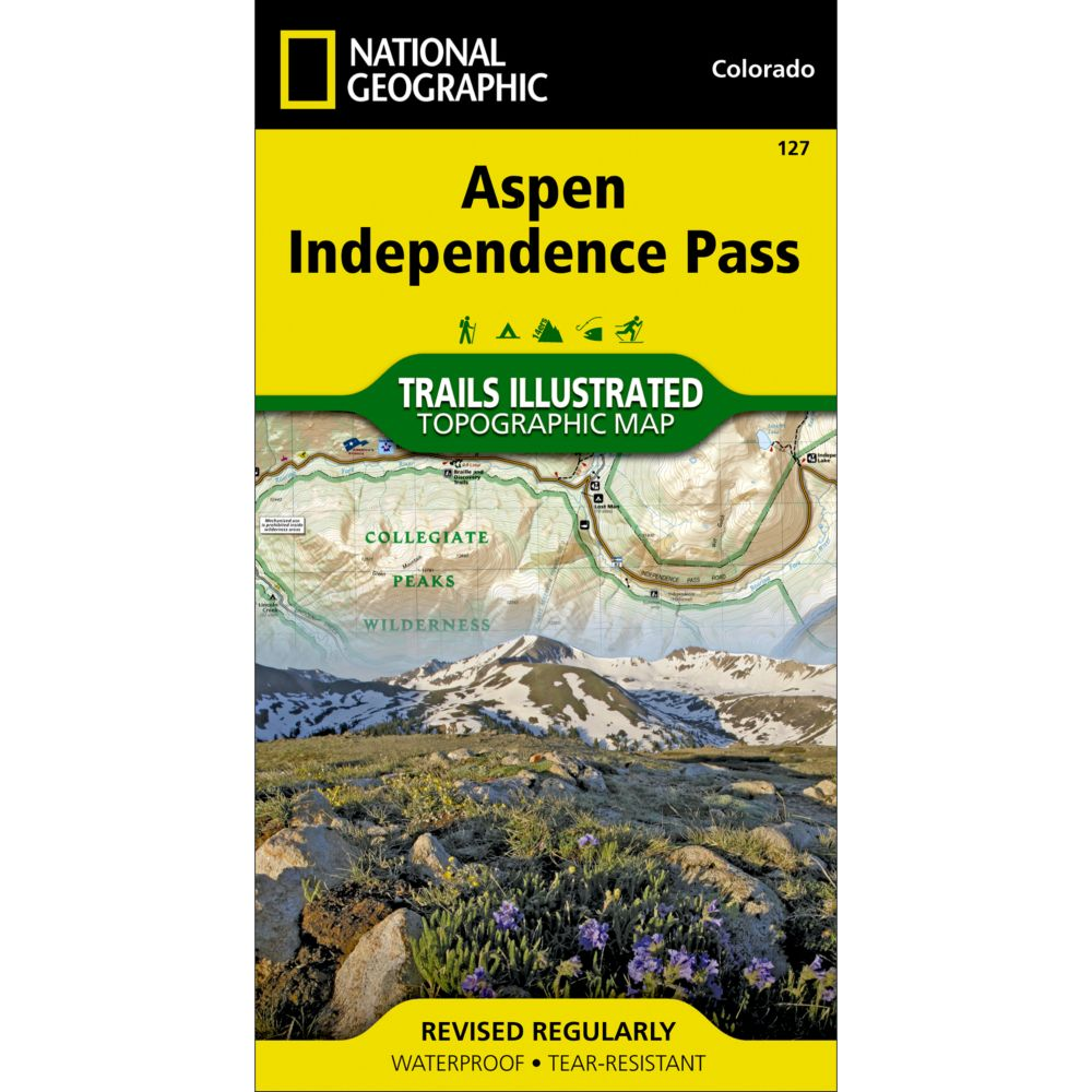 photo: National Geographic Aspen/Independence Pass Trail Map  us mountain states paper map