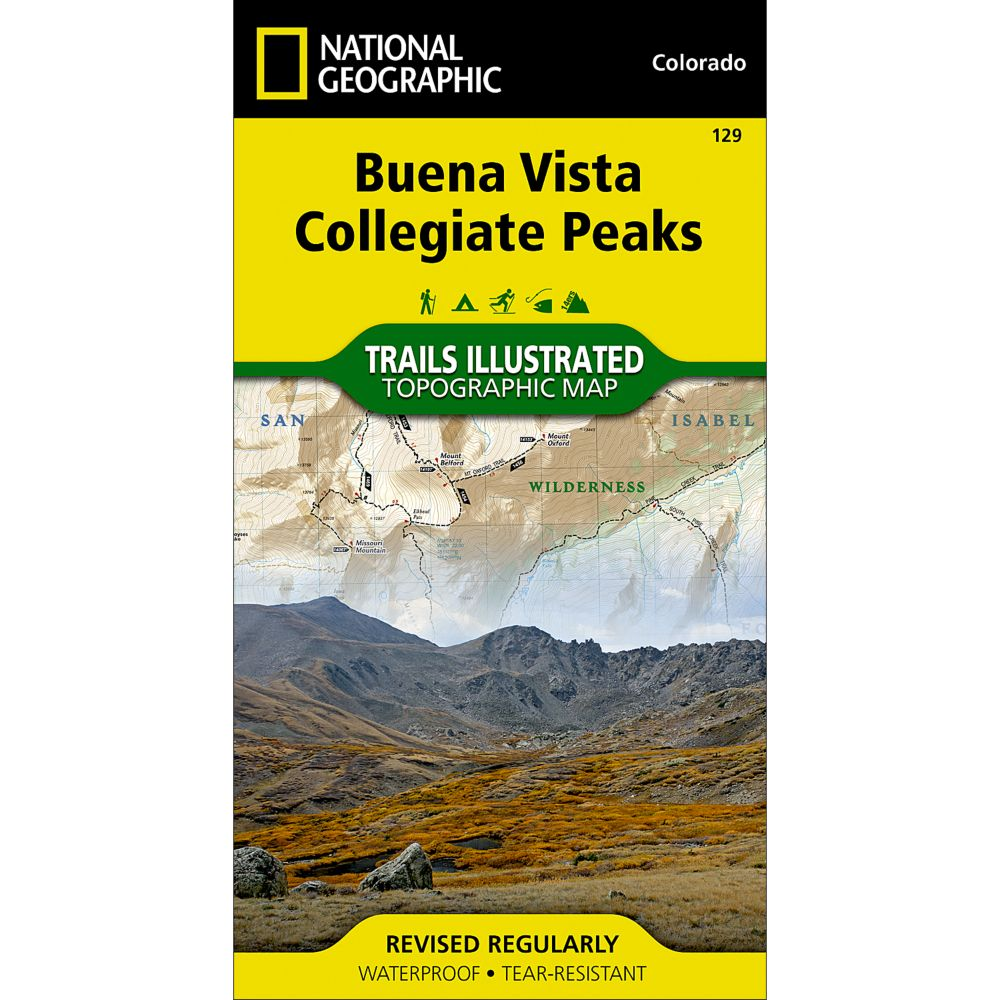 photo: National Geographic Buena Vista/Collegiate Peaks Trail Map  us mountain states paper map