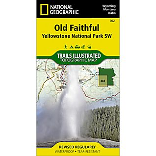 National Geographic Old Faithful and Southwest Yellowstone Map