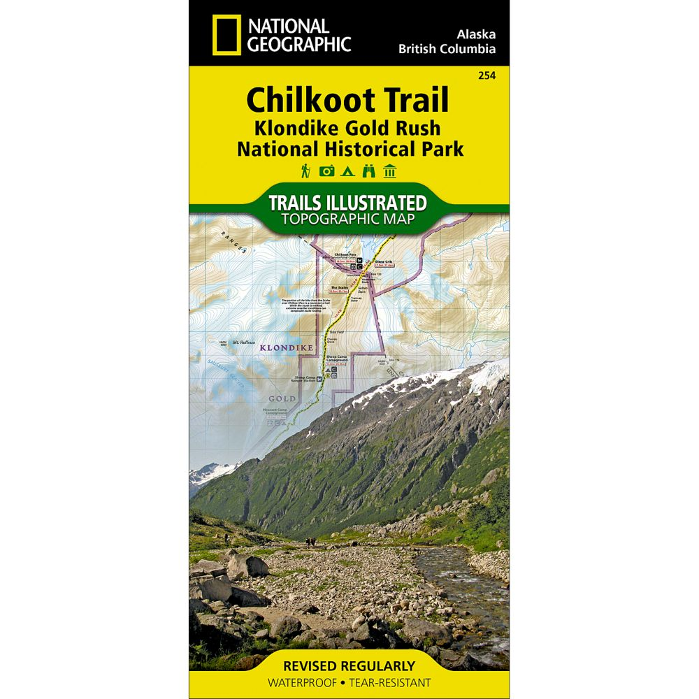 National Geographic Chilkoot Trail/Klondike Gold Rush NHP Map