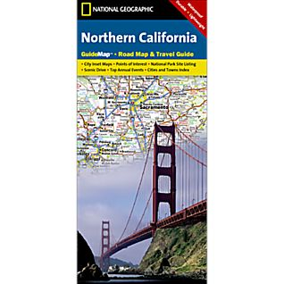 photo: National Geographic Northern California Map us pacific states paper map