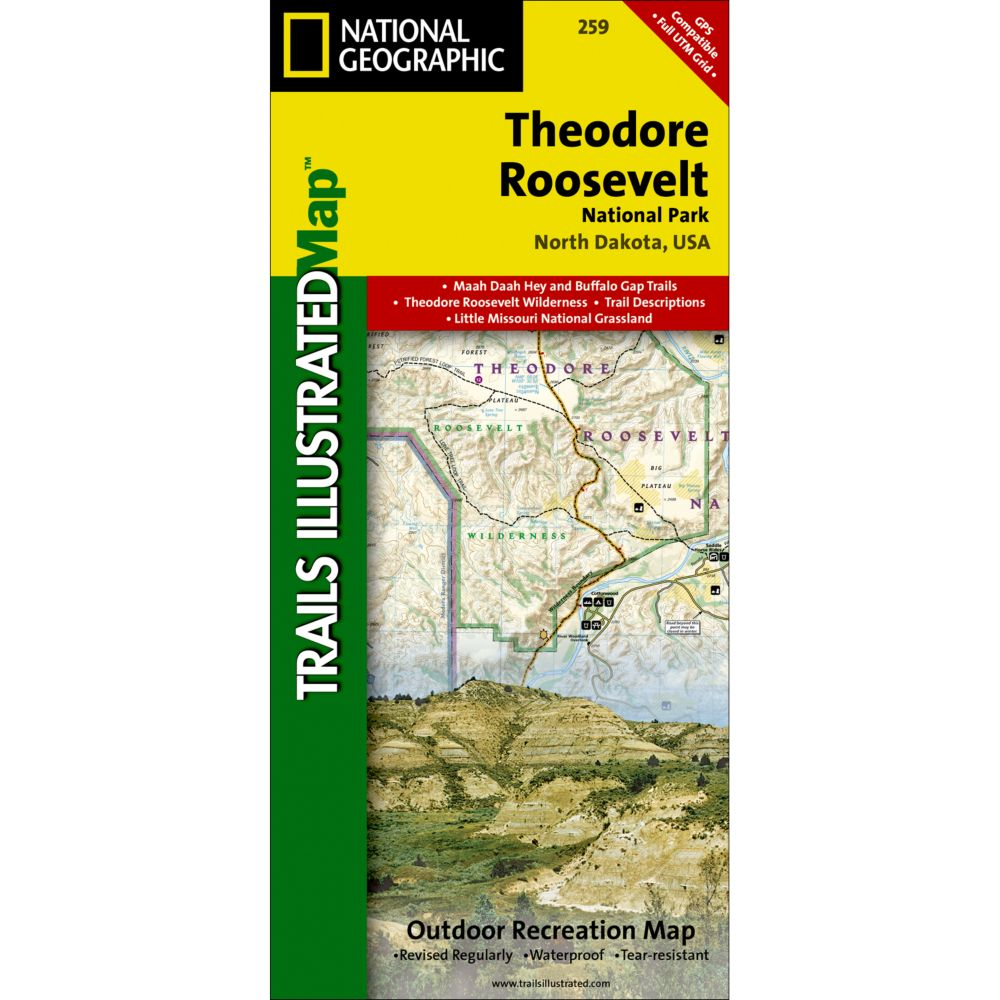 National Geographic Theodore Roosevelt National Park Trail Map