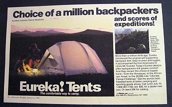 Most amazing small tent ever. & Eureka! Alpine Meadows Reviews - Trailspace.com