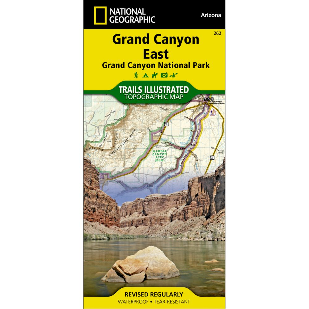 National Geographic Grand Canyon East Trail Map
