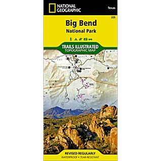 photo: National Geographic Big Bend National Park Map us south paper map