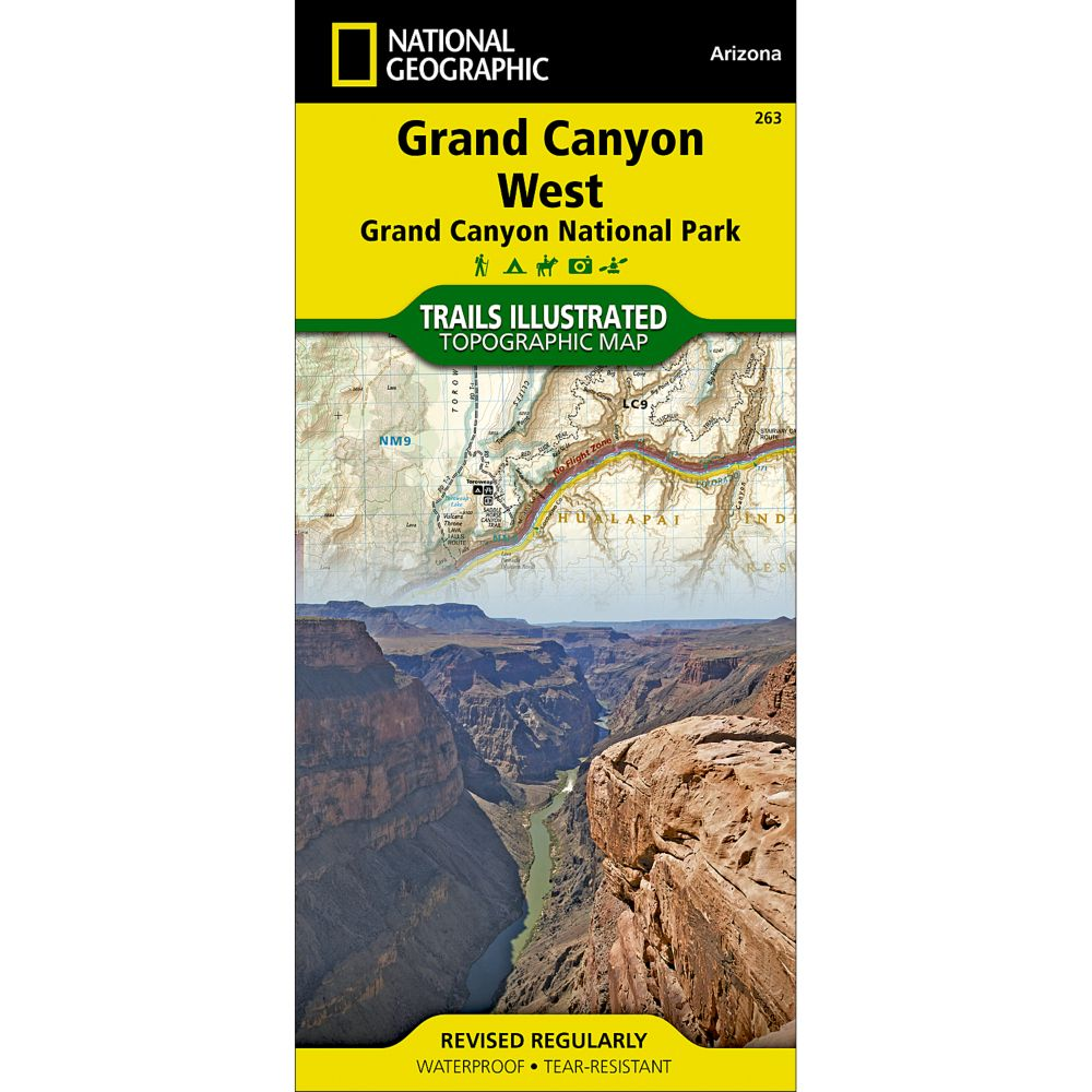 National Geographic Grand Canyon West Trail Map