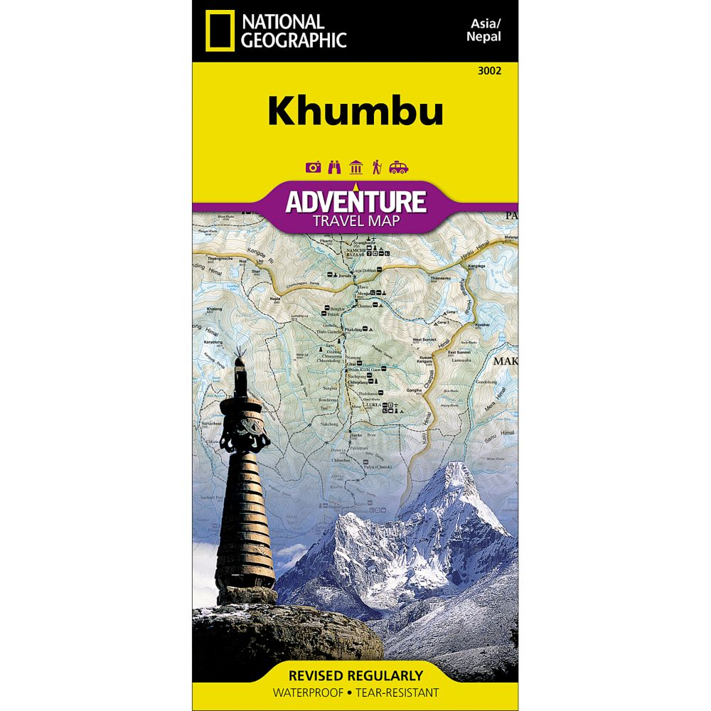 photo: National Geographic Khumbu, Nepal, Adventure Map  international paper map
