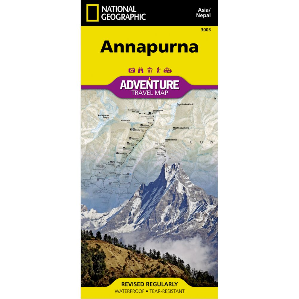 National Geographic Annapurna, Nepal Adventure Map
