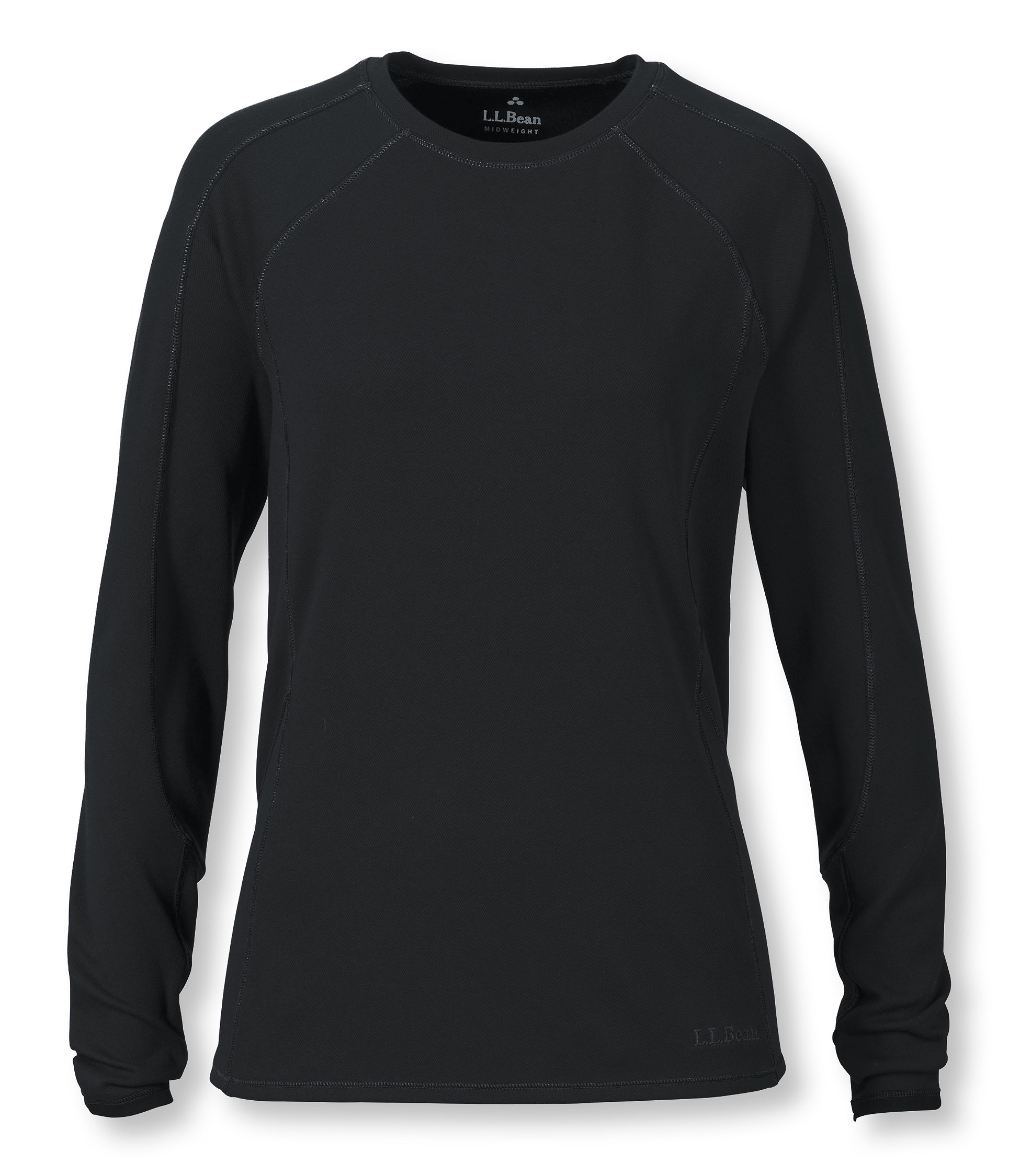 photo: L.L.Bean Women's Power Dry Stretch Base Layer, Midweight Long-Sleeve Crew base layer top