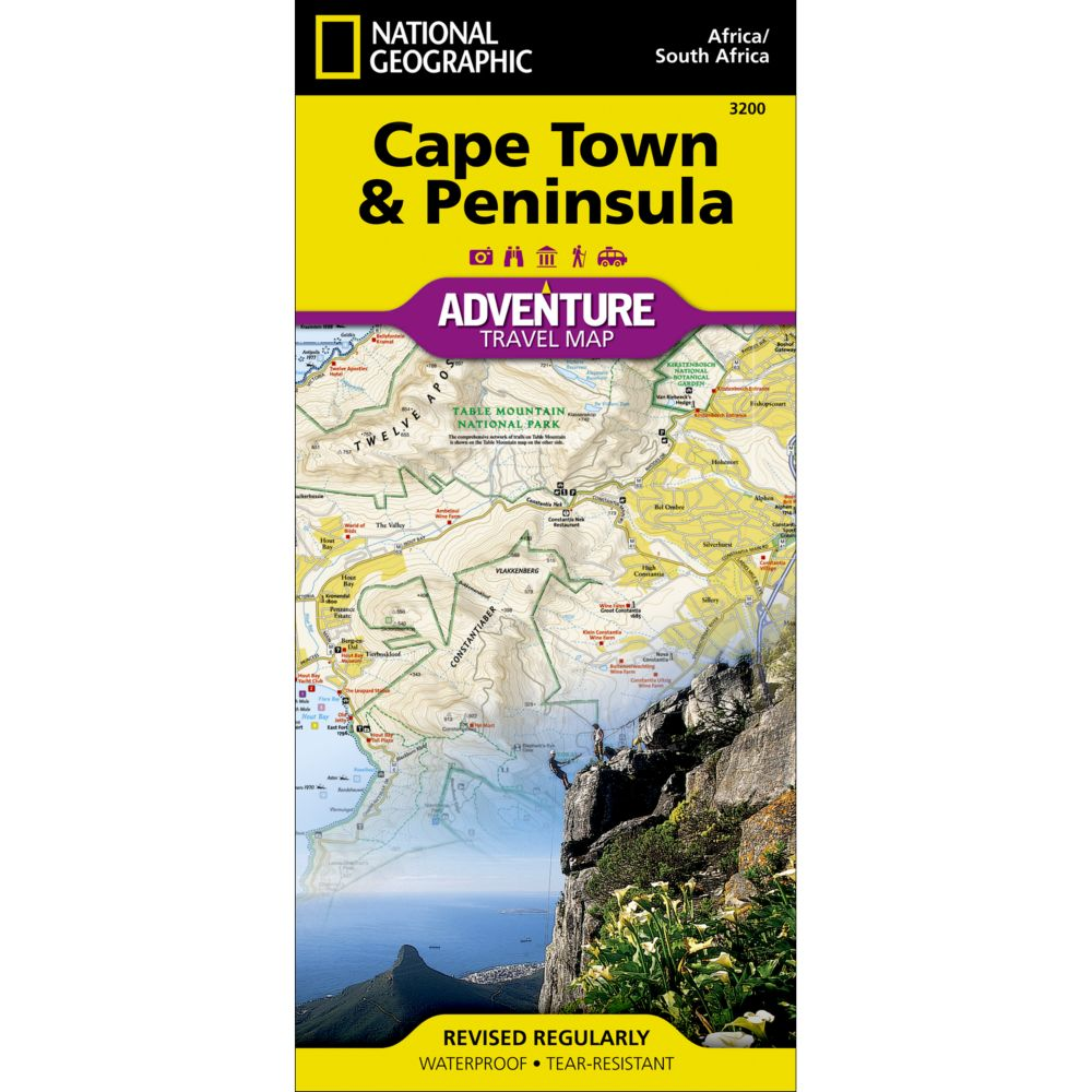 photo: National Geographic Cape Town & Peninsula Adventure Map international paper map