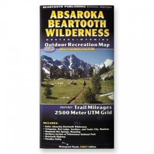 photo: Beartooth Mountain Press Absaroka Beartooth Wilderness Map us mountain states paper map