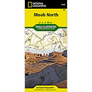 National Geographic Moab North Map