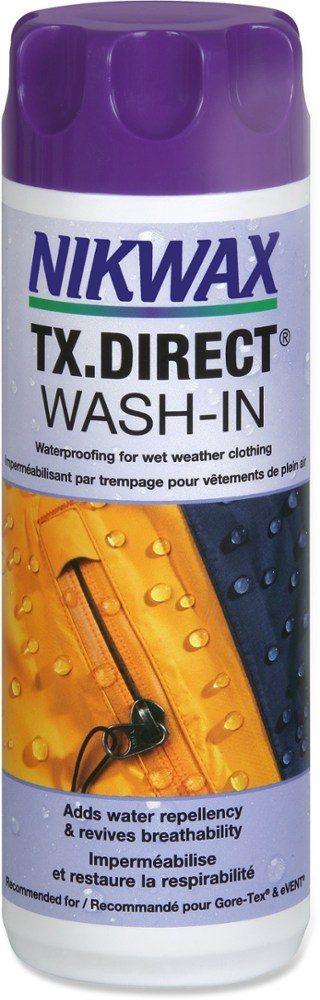 photo: Nikwax TX.Direct Wash-In fabric cleaner/treatment