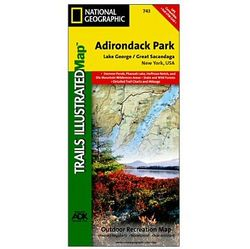 photo: National Geographic Lake George/Great Sacandaga Map - Adirondack National Park us northeast paper map