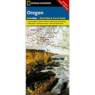National Geographic Oregon Map