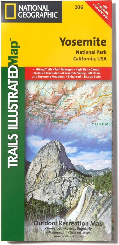 National Geographic Yosemite National Park Map