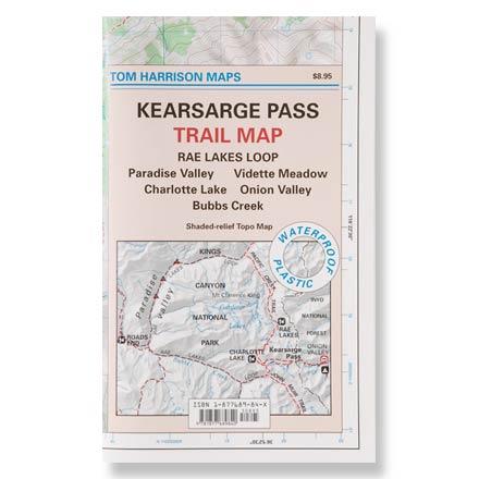 Tom Harrison Maps Kearsarge Pass Trail Map