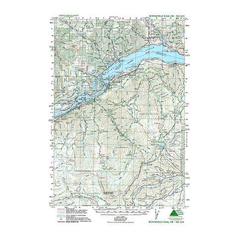 Green Trails Maps Bonnevile Dam Map