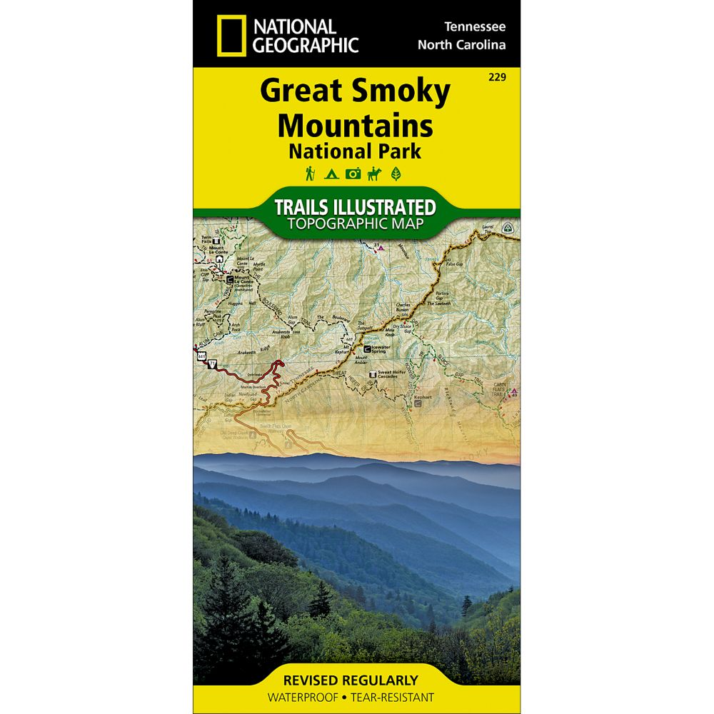 photo: National Geographic Great Smoky Mountains National Park Map us south paper map