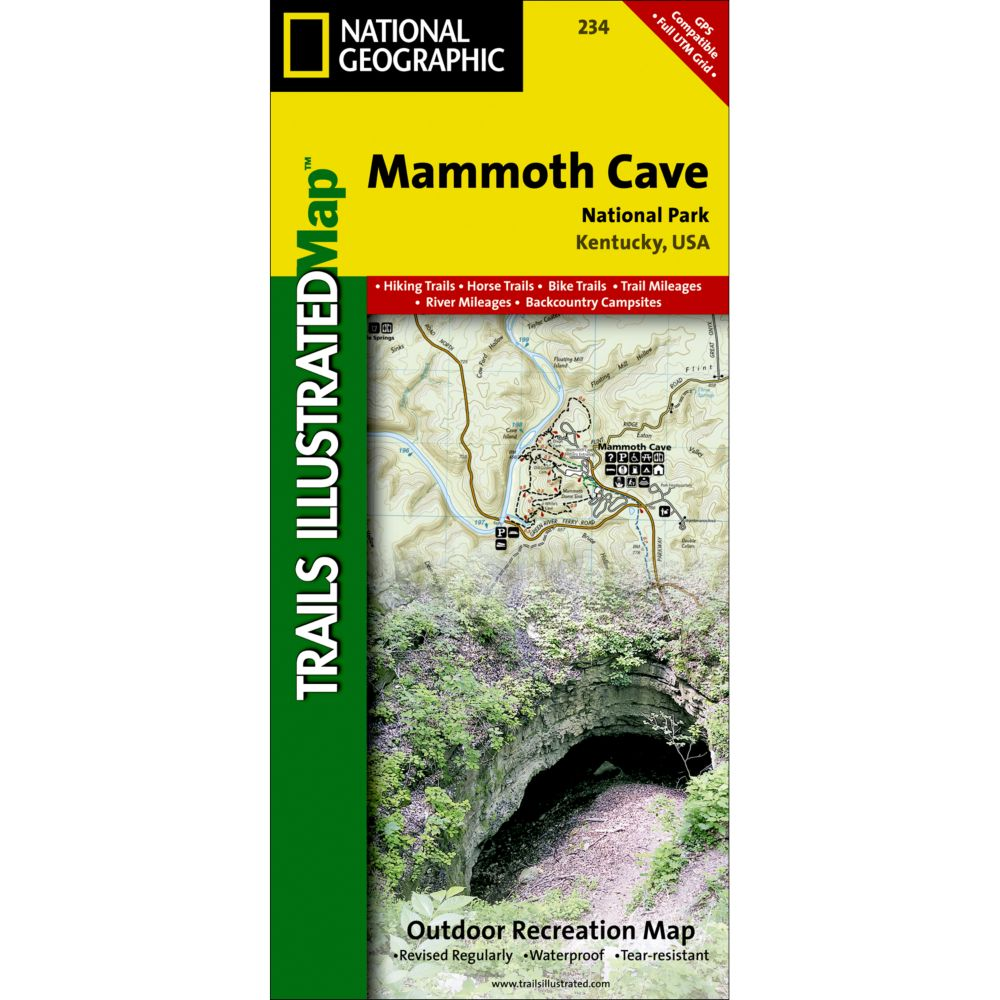 National Geographic Mammoth Cave National Park Map