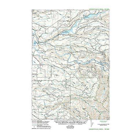 photo: Green Trails Maps Cherryville Oregon Map us pacific states paper map