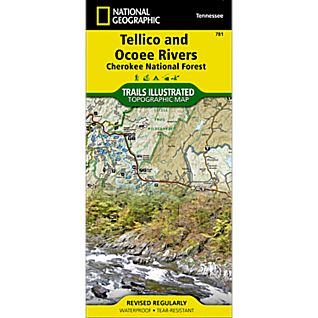 National Geographic Tellico and Ocoee Rivers Map - Cherokee National Forest