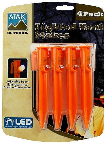 photo:   Atak Outdoor Lighted Tent Stakes stake