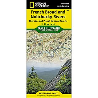 National Geographic French Broad/Nolichucky Rivers Map - Cherokee and Pisgah National Forests