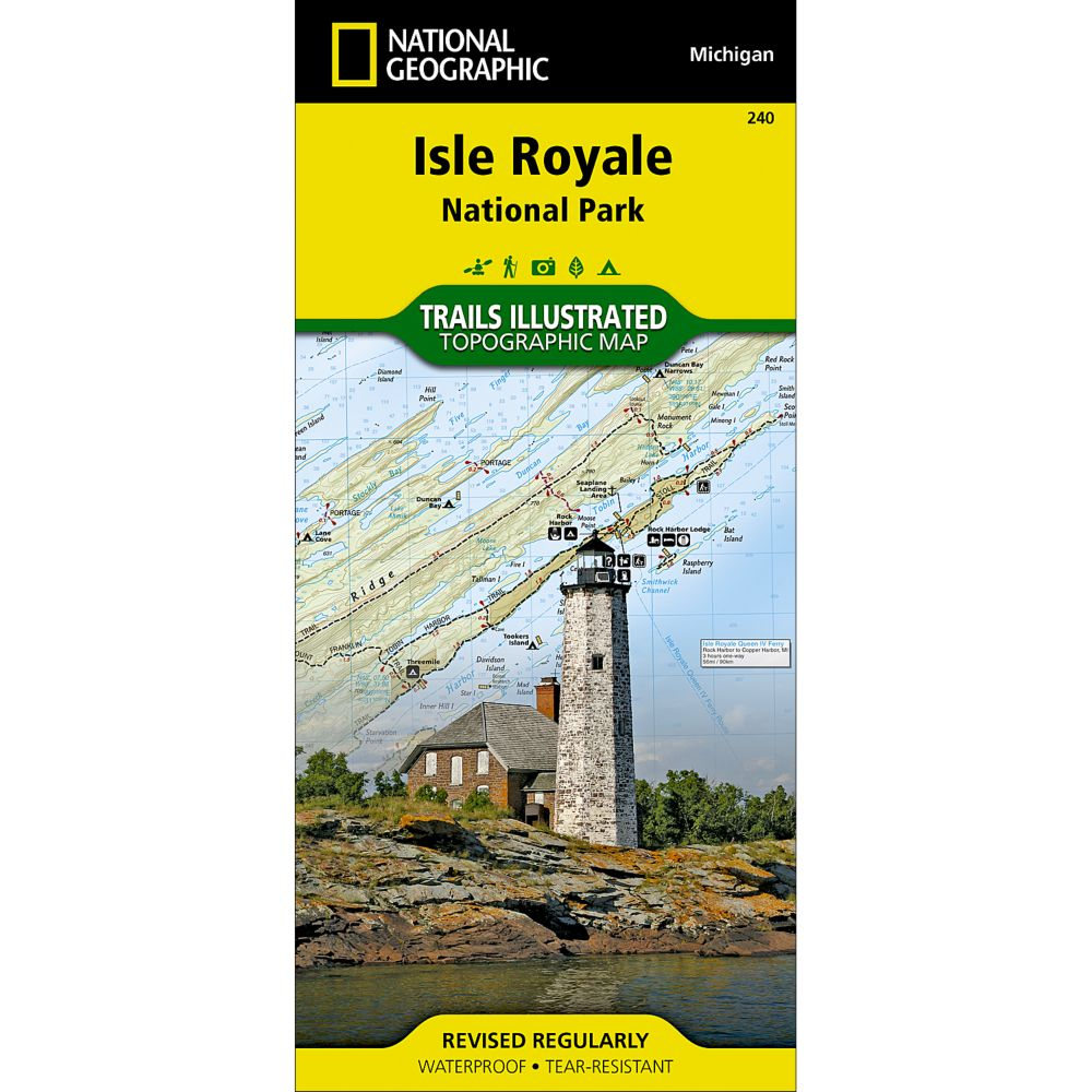 National Geographic Isle Royale National Park Map