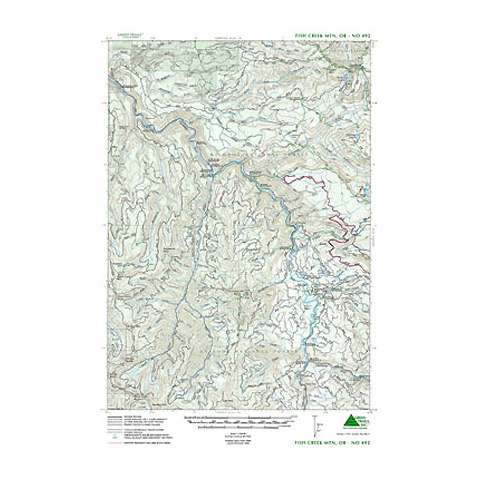 Green Trails Maps Fish Creek Mountain Oregon Map