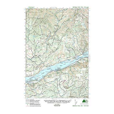 photo: Green Trails Maps Bridal Veil Oregon Map us pacific states paper map