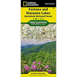 photo: National Geographic Fontana & Hiwassee Lakes Trail Map  us south paper map