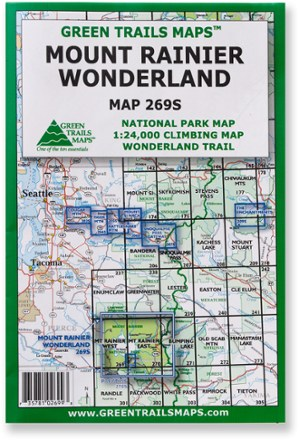 Green Trails Maps Mount Rainier Wonderland Map