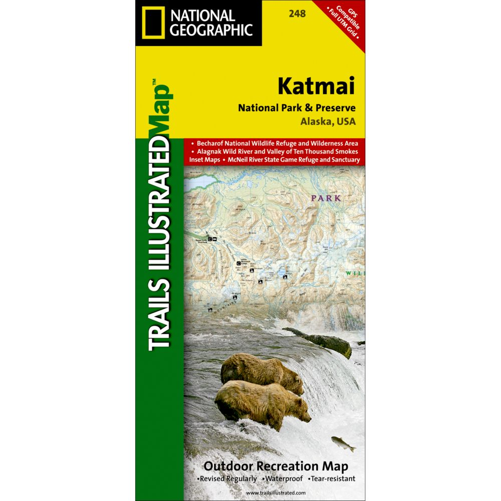 National Geographic Katmai National Park and Preserve Map