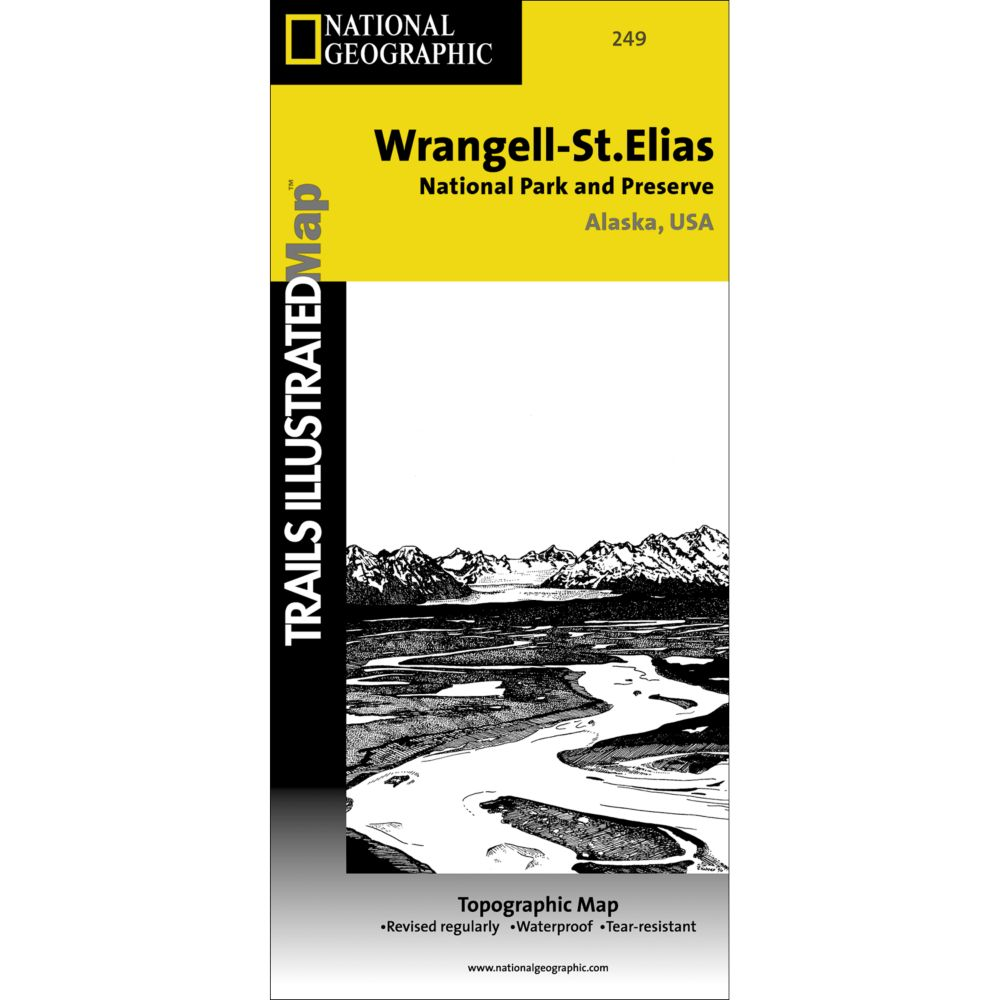 National Geographic Wrangell-St. Elias National Park & Preserve Map