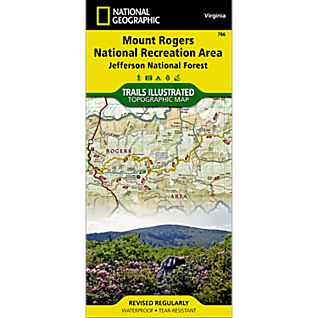 photo: National Geographic Mount Rogers NRA Trail Map  us south paper map