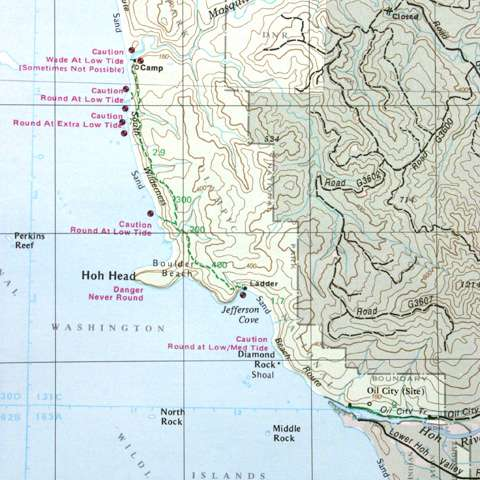 photo: Green Trails Maps La Push Washington Map us pacific states paper map