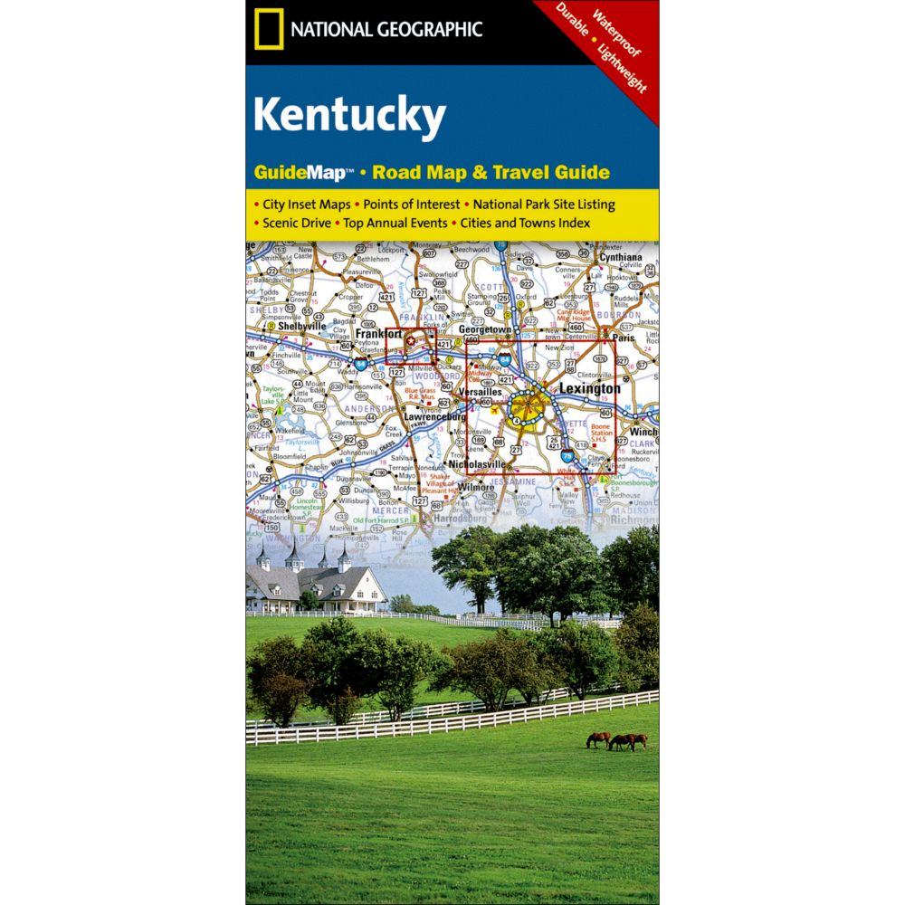 National Geographic Kentucky Map