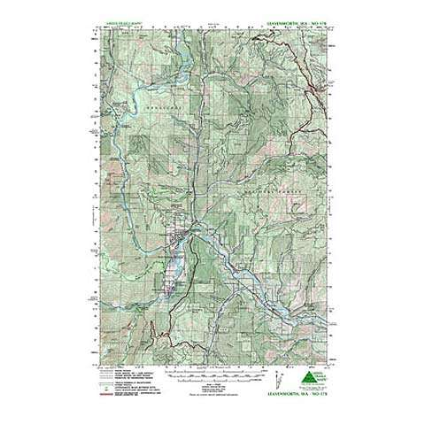 photo: Green Trails Maps Leavenworth Washington Map us pacific states paper map