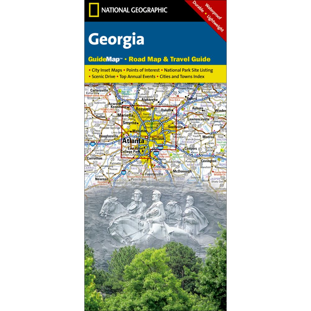 photo: National Geographic Georgia Map us south paper map