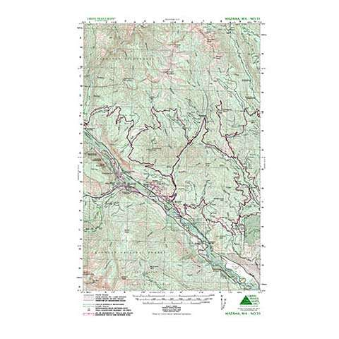 Green Trails Maps Mazama Washington Map