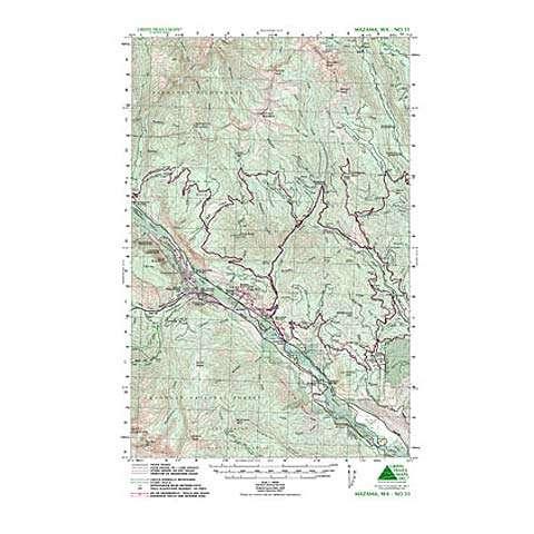 photo: Green Trails Maps Mazama Washington Map us pacific states paper map