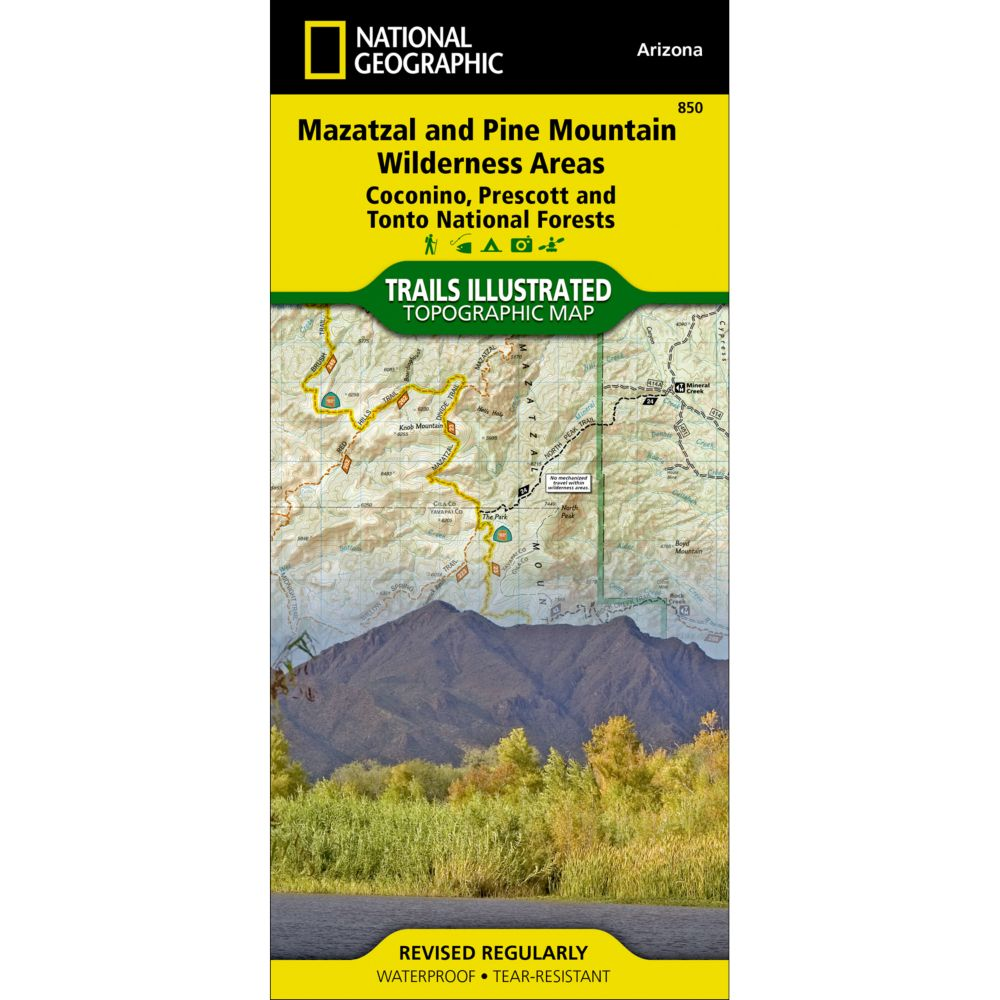 National Geographic Mazatzal & Pine Mountain Wilderness Areas Map