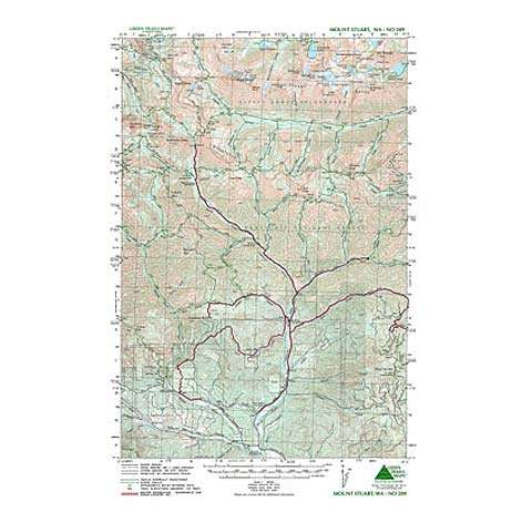 Green Trails Maps Mount Stuart Washington