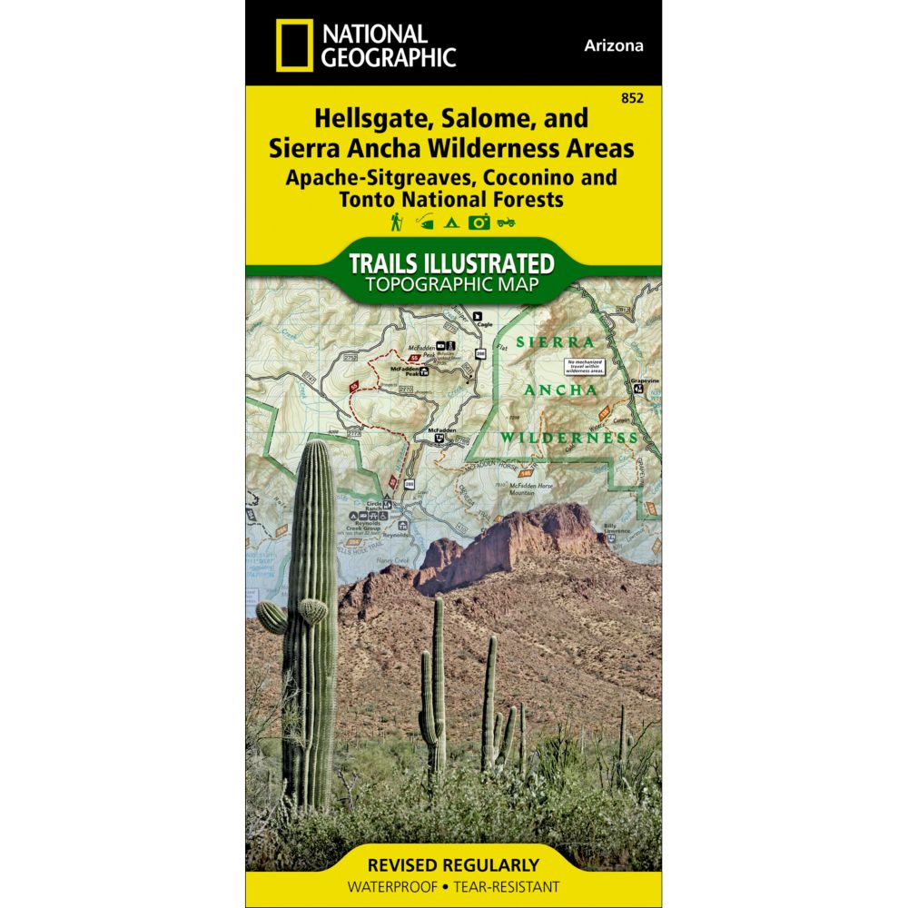 photo: National Geographic Hellsgate, Salome & Sierra Ancha Wilderness Areas Map us mountain states paper map
