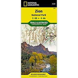 photo: National Geographic Zion National Park Map us mountain states paper map